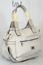 Дамска чанта цвят екрю  9153598