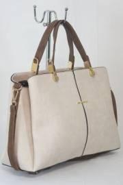Дамска чанта в бежово и кафяво 9153607
