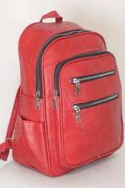 Дамска раница в червен цвят 9153645