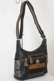 Дамска чанта черно и кафяво  9153660