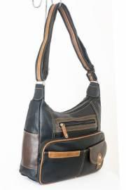 Дамска чанта черно и кафяво  9153661