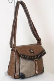 Дамска чанта кафяв цвят  9153662