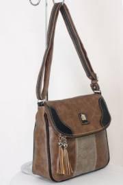 Дамска чанта кафяв цвят  9153666