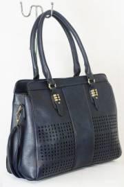 Дамска чанта тъмно син цвят  9153680
