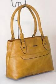 Дамска чанта цвят  горчица 9153684