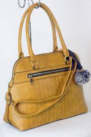 Дамска чанта цвят  горчица 9153687
