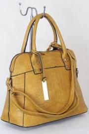 Дамска чанта цвят  горчица 9153695