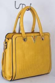 Дамска чанта цвят  горчица 9153725