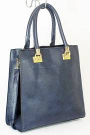 Дамска чанта тъмно син цвят  9153749
