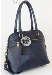 Дамска чанта тъмно син цвят  9153784