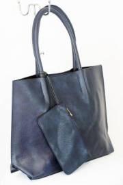 Дамска чанта тъмно син цвят  9153793
