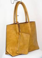 Дамска чанта светло кафяв цвят  9153794
