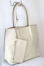 Дамска чанта цвят екрю  9153795