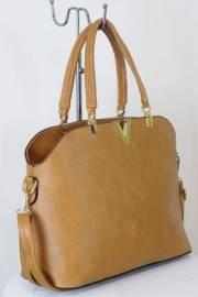 Дамска чанта светло кафяв цвят  9153799