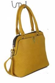 Дамска чанта цвят  горчица 9153802
