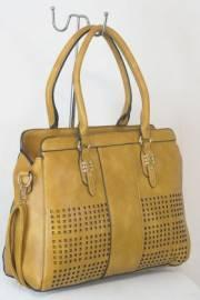 Дамска чанта кафяв цвят  9153808