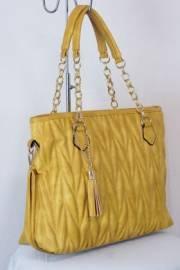 Дамска чанта цвят  горчица 9153816
