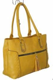 Дамска чанта цвят  горчица 9153831