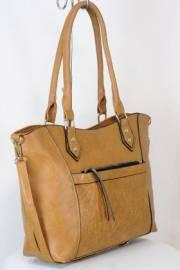 Дамска чанта кафяв цвят  9153844