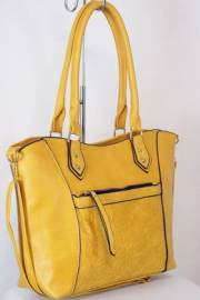 Дамска чанта цвят  горчица 9153845