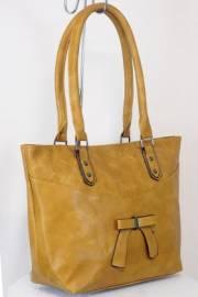 Дамска чанта цвят  горчица 9153853