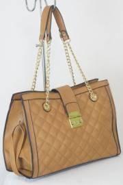 Дамска чанта кафяв цвят  9153854