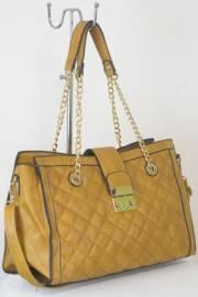 Дамска чанта светло кафяв цвят  9153855