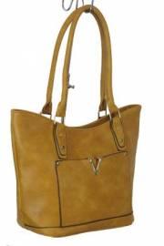 Дамска чанта цвят  горчица 9153864