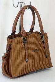 Дамска чанта в кафяв цвят 9153876