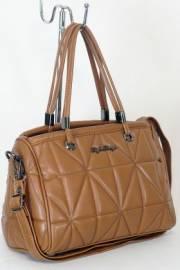 Дамска чанта в кафяв цвят 9153886