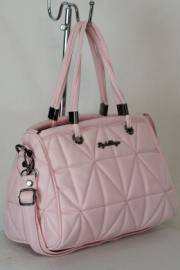 Дамска чанта в светло розов цвят 9153887