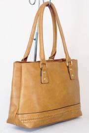 Дамска чанта с кафяв цвят 9153895