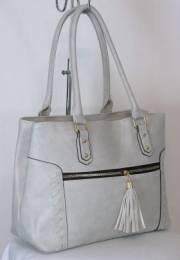 Дамска чанта в светло сив цвят 9153961