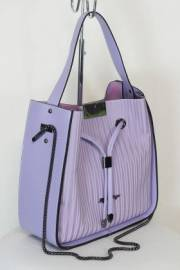 Дамска чанта в цвят виолетка 9154005
