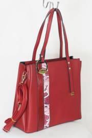 Дамска чанта в червен цвят 9154009