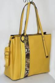 Дамска чанта в цвят горчица 9154011