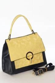 Дамсмка чанта в черно и жълто 9154053