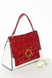 Дамска чанта в червено и бяло 9154055