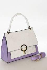 Дамска чанта в лилаво и бяло 9154057