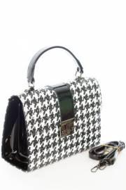 Дамска чанта в черно и бяло 9154059