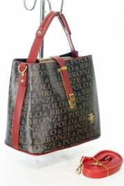 Дамска чанта в черно и червено 9154060