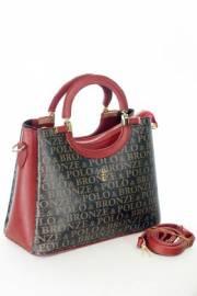 Дамска чанта в черно и червено 9154065