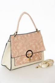 Дамска чанта в розово и екрю 9154067
