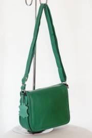 Дамска чанта от естествена кожа в зелено 9154118