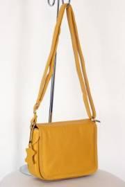 Дамска чанта от естествена кожа в цвят горчица 9154120