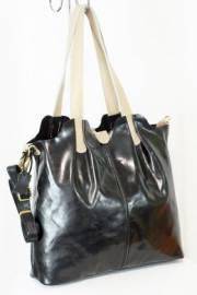 Дамска чанта в черно и бежово 9154147