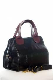 Дамска чанта в черно и бордо 9154160
