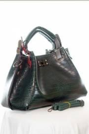 Дамска чанта в тъмно зелено 9154167