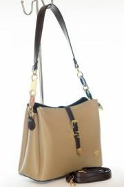 Дамска чанта в бежово и кафяво 9154213