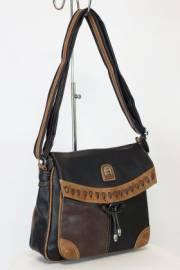 Дамска чанта в черно и кафяво 9154220